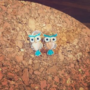 Lauren Conrad owl earrings